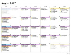 thumbnail of Calendar — Month — 8:1:17 to 8:31:17